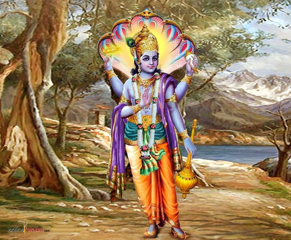 Lord Vishnu Ji Mobile Wallpapers Bhagwan HD Photo