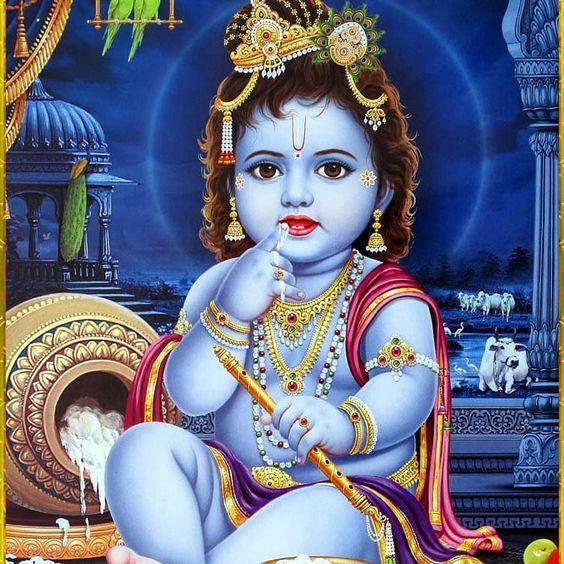 Child Krishna Hindu God Krishna Bhagwan Photo Download