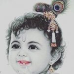 Childhood Picture of God Krishna Bhagwan
