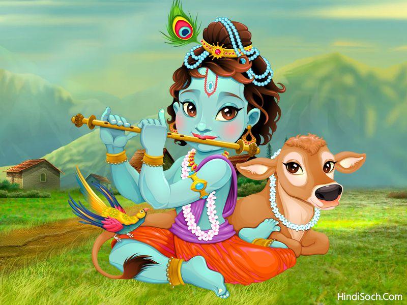 Cute God Krishna HD Wallpaper Image for Whatsapp DP