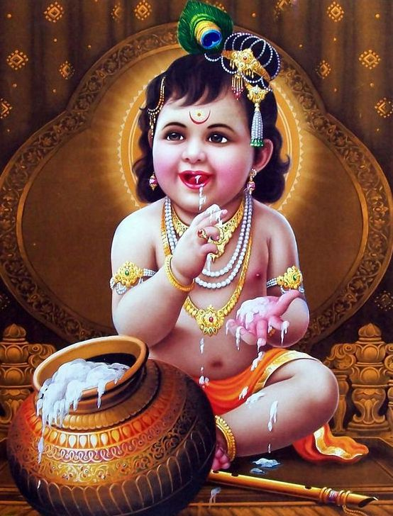 Cute Lord Krishna Child Images