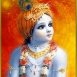 God Krishna Childhood Cute Photo Background Wallpaper for DP