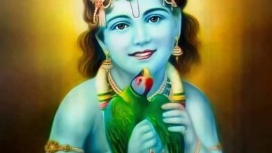 God Krishna Painting HD Photo