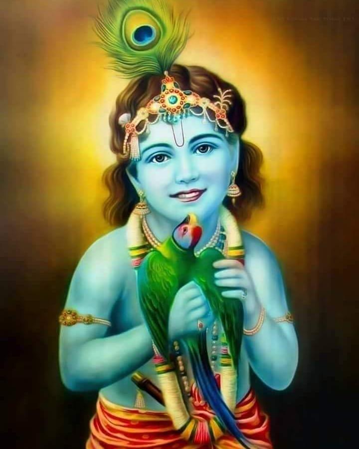 God Krishna Painting HD Photo