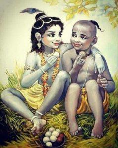 Krishna Sudama Childhood Picture