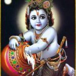 Little Shri Krishna Eating His Favorite Food Butter