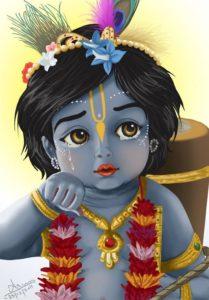 Lord Krishna Childhood Images