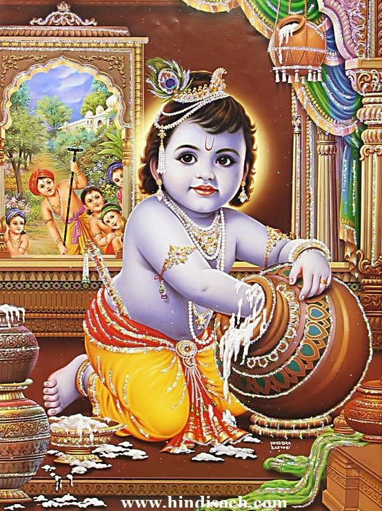 Makhanchor Krishna Ji Images and Wallpapers Download
