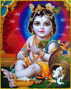 Painting of Hindu God Lord Krishna Janmashtmi Photos