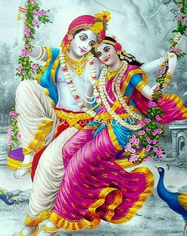 Radha Krishna Painting Images