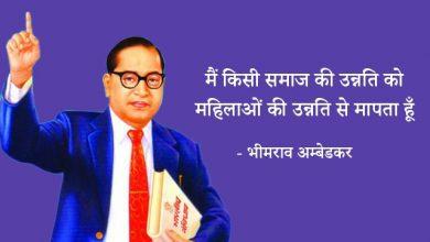 Photo of Dr Br Ambedkar Quotes in Hindi भीमराव अम्बेडकर के आदर्श वाक्य