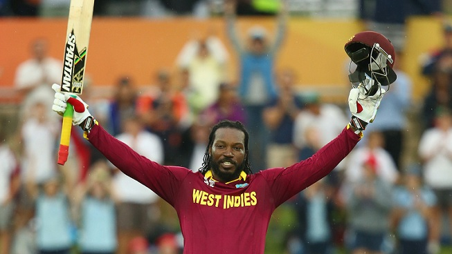 Chris Gayle Celebrate After Century