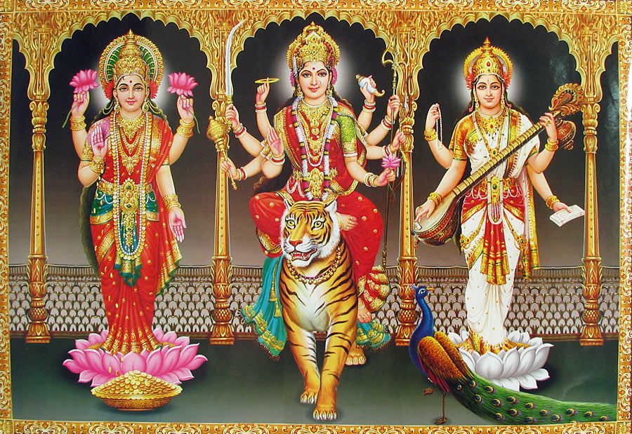 Godess-Durga-Laxhmi-Saraswati