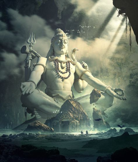 God Shiva Shankar Ji Sky Touching Statue Huge Pic