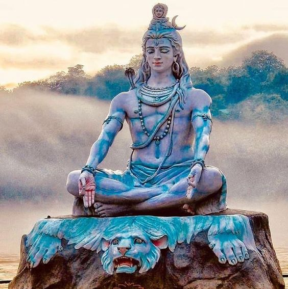Lord Bhagwan Shiva Samadhi Photo With Ganga on Head