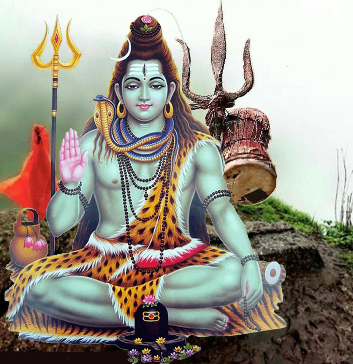 Lord Shiva Trishul Image for Android Mobiles