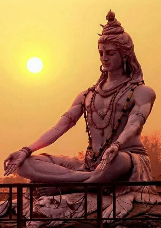 Shankar Shiva Lord Bhagwan Statue in The Morning