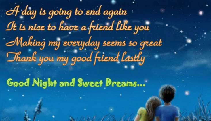 Good Night Sms For Friends Good Night Wishes