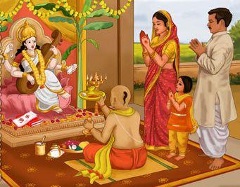 Maa Saraswati Basant Panchami Pooja Image