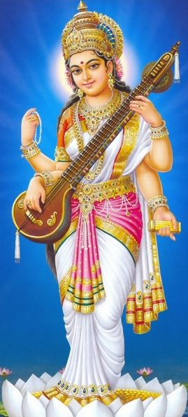 Saraswati Images for Mobile and Whatsapp
