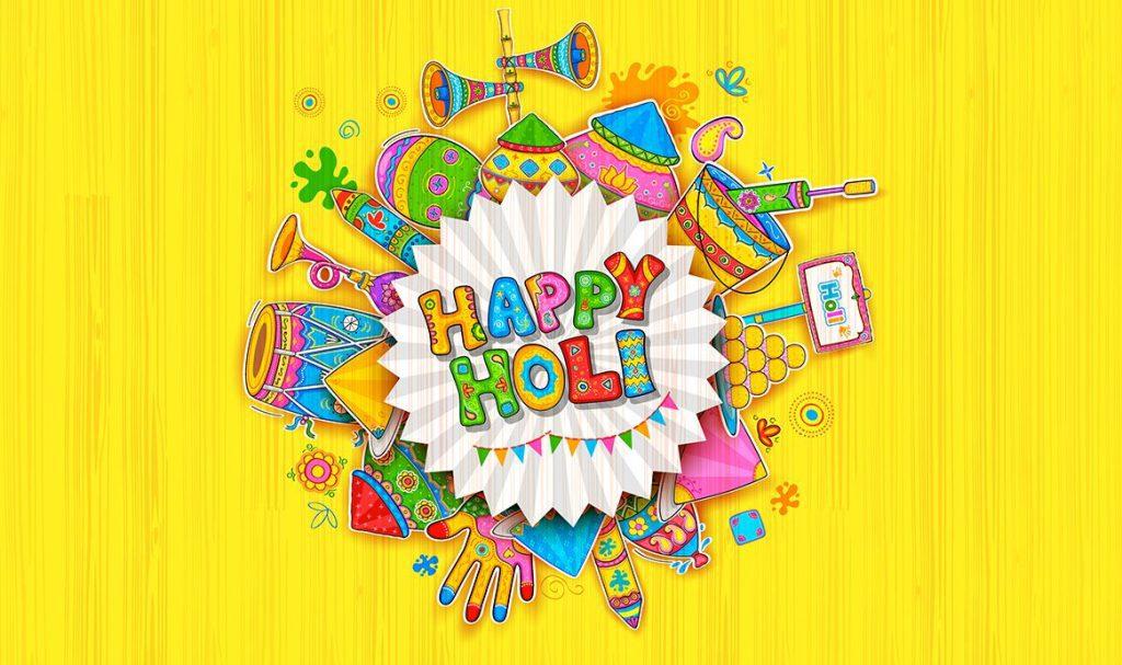 Happy Holi Desktop Background