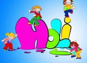 Kids Holi Image for Fun