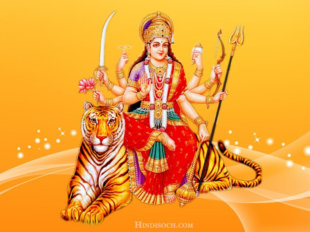 Maa Durga Photo with HD Wallpaper