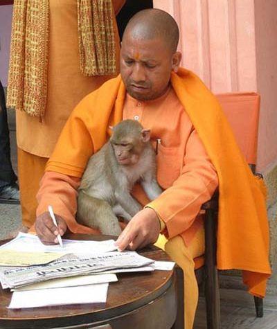 Yogi Adityanath Rare Photo
