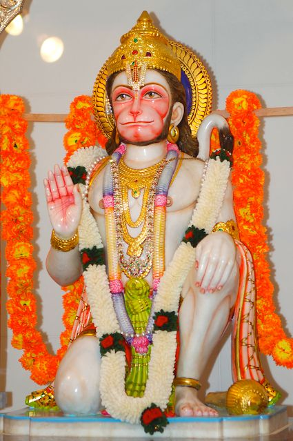 Hanuman Ji Statue Image in Temple