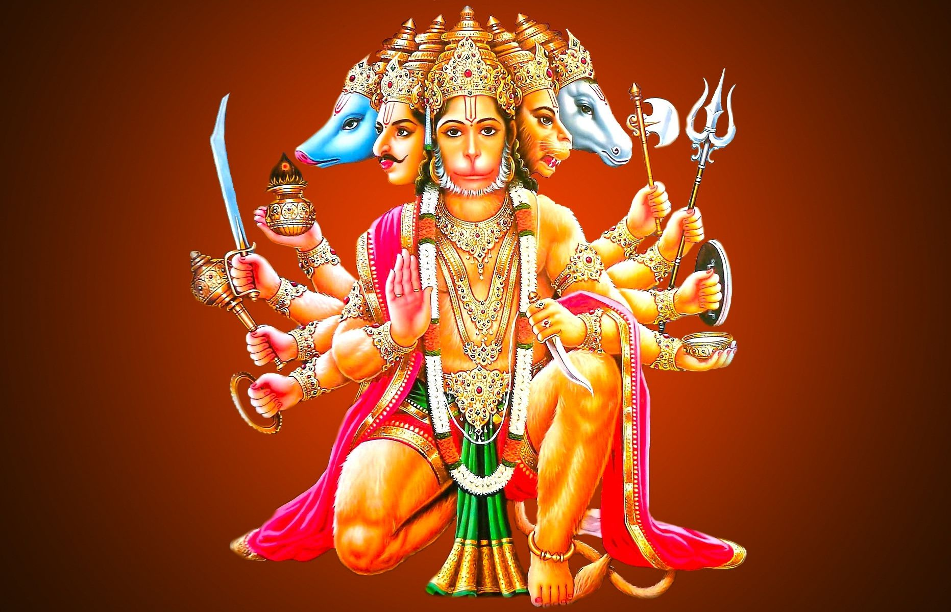 Panchmukhi Hanuman Wallpapers HD