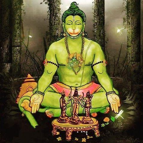 Veer Hanuman Painting and Mobile Wallpaper