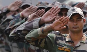 Indian Army Photos in Salute Position