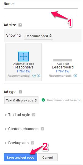 make ad code