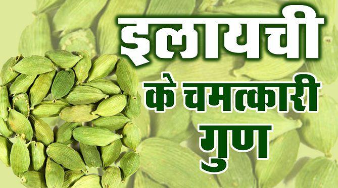 इलायची के फायदे अथवा Cardamom Benefits in Hindi