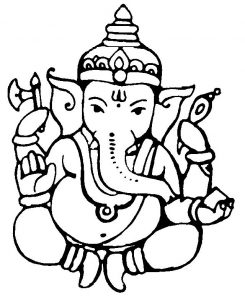 Ganesha Scratch Photo