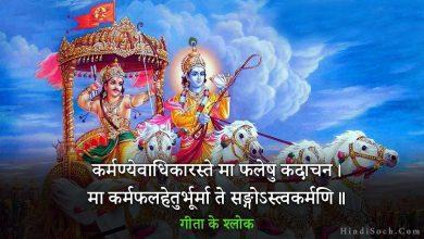 Photo of श्रीमद भगवत गीता के श्लोक अर्थ सहित   Geeta Shlok in Hindi