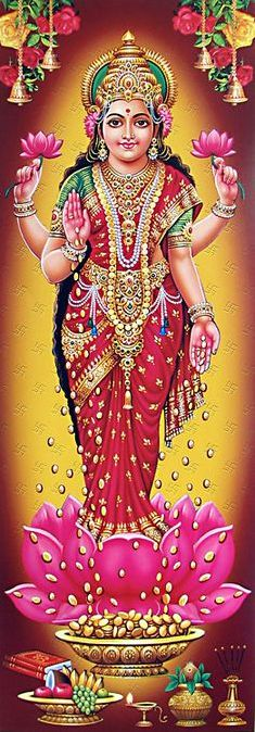 Goddess Lakshmi (Laxmi) Photo for Mobile