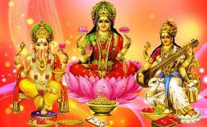Maa Laxmi with Ganesha