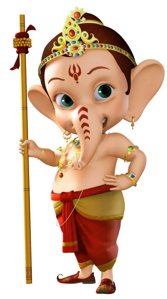 Cute Ganpati Child Photo