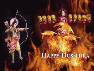 Dussehra Photo with Quotes
