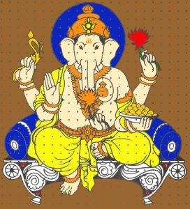 Handmade Pictures of Ganpati