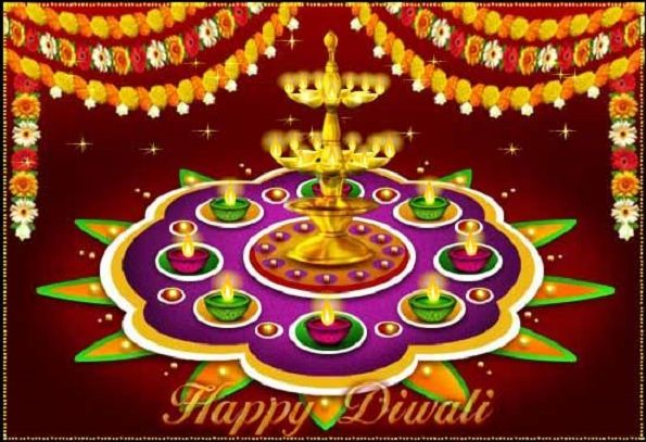 Happy Diwali Images Wallpapers with Light