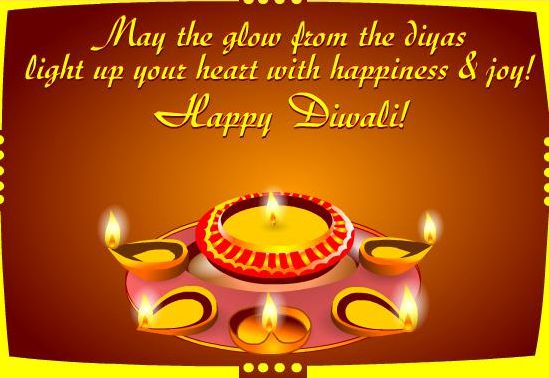 Happy Diwali Photo with Quotes