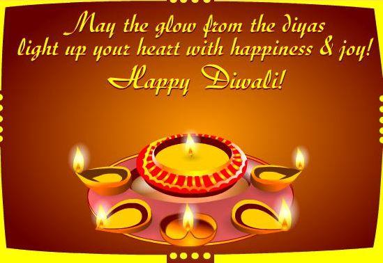 Happy Diwali Photo with Quotes