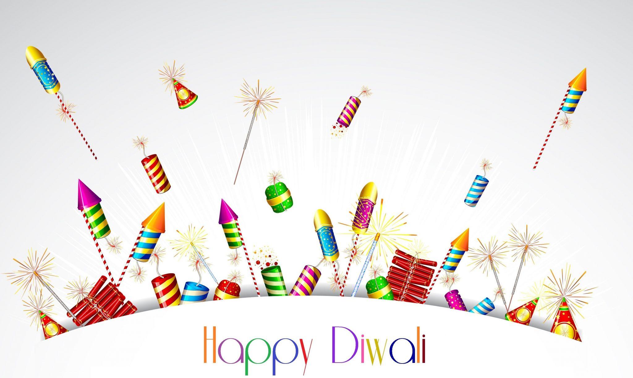 Happy Diwali Photos with Crackers