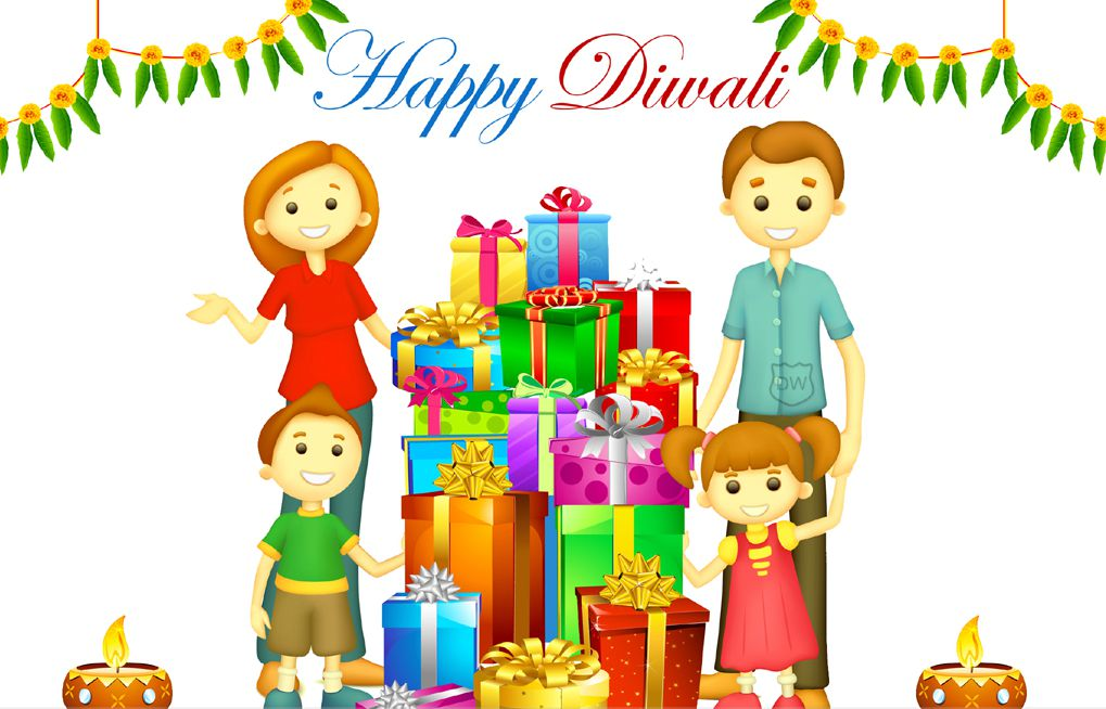 Images of Happy Diwali with Family