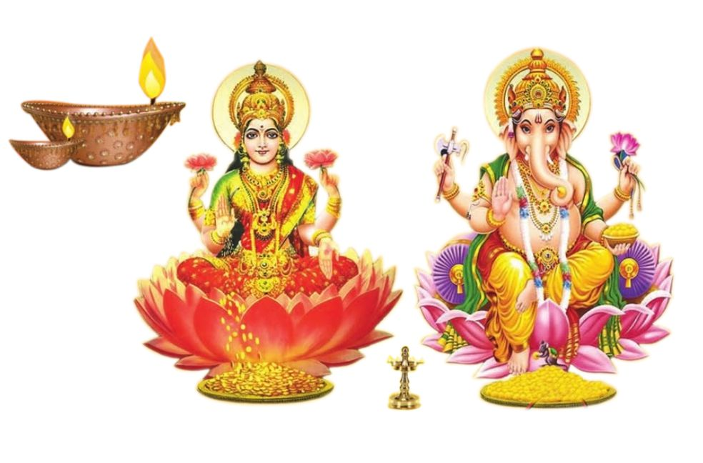 Diwali Photo with Laxmi Ganesh Pictures