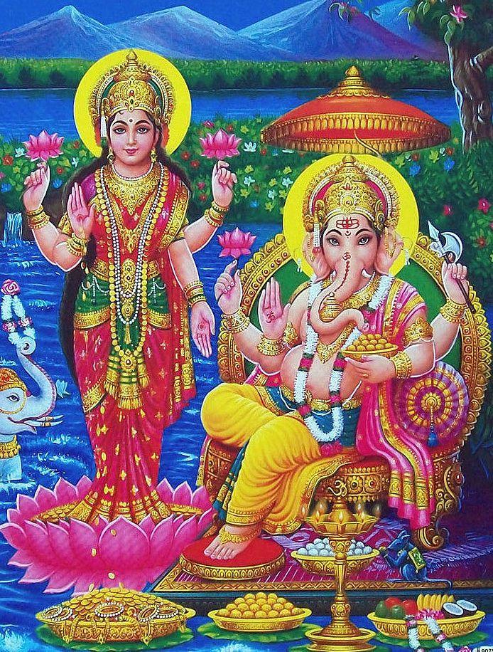 Ganesha Laxmi Images Wallpaper
