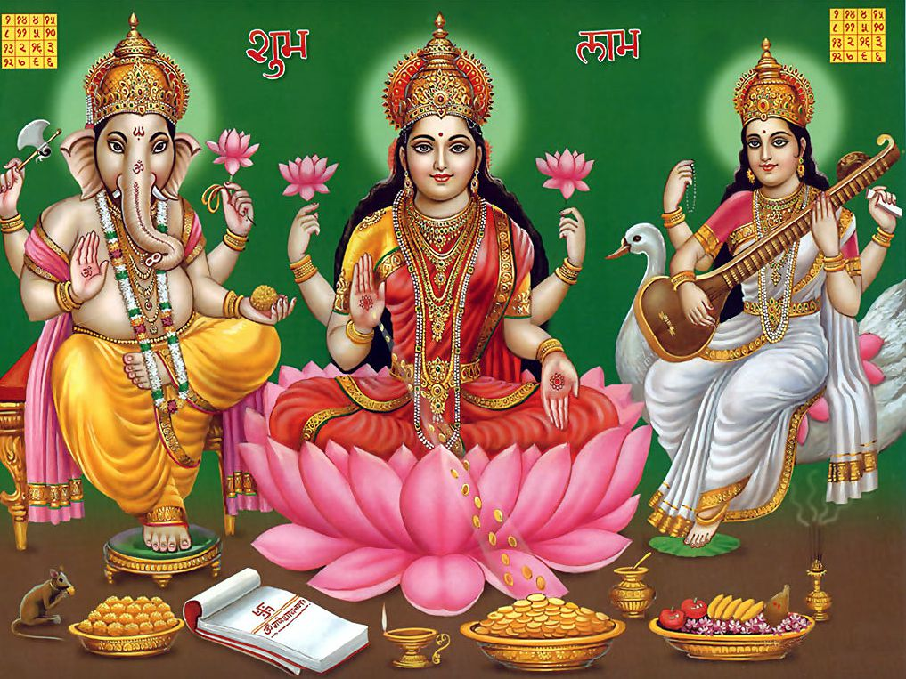 Images of Laxmi Ganesha for Backgrounds
