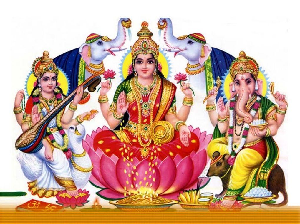Lakshmi (Laxmi) Ganesha Photo for Puja